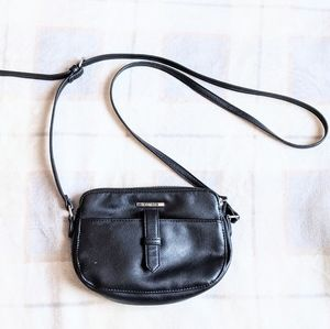 Roots 73 Black Faux Leather Crossbody Purse